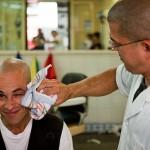 Salon fryzjerski męski.