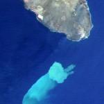 Podwodne ujście gazu, fotka satelitarna