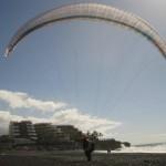 Paralotniarz w Puerto Naos