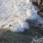 Surf na plaży La Zamora, Fuencaliente