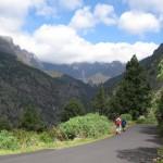 Widok z Barranco de Las Angustias w kierunku Caldery