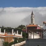 El Paso i wodospad chmur