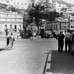 Stara fotografia Santa Cruz - okolice portu, w głębi poczta
