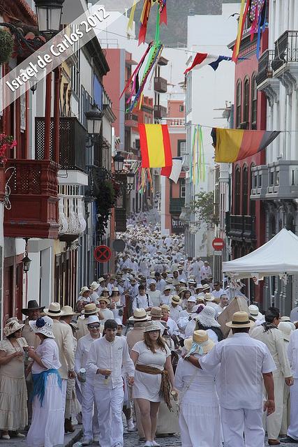 Ulica Calle Real w dniu Los Indianos
