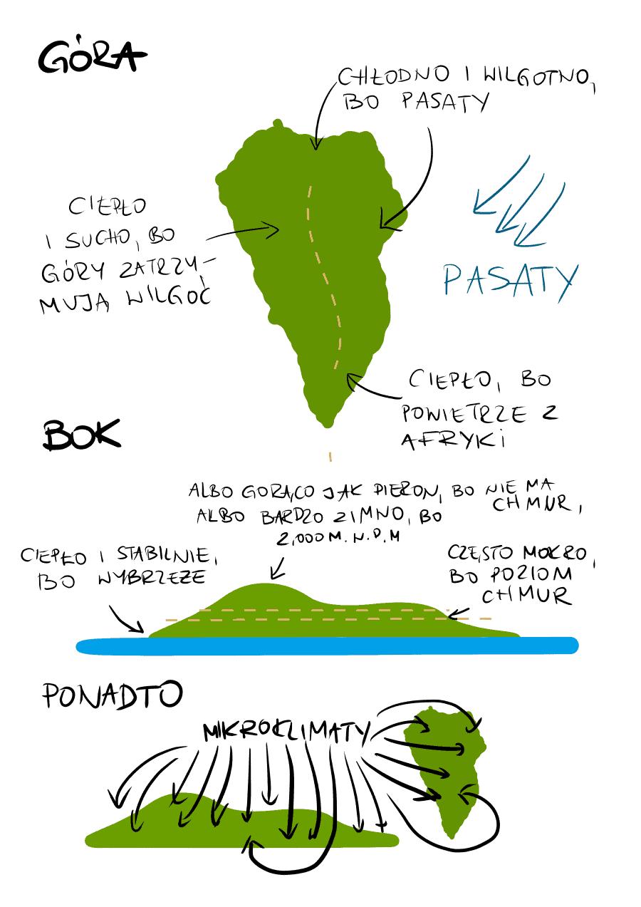 Klimat, La Palma, Wyspy Kanarysjkie